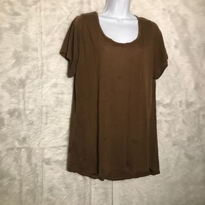LulaRoe Solid Brown Perfect T Size Woman's X-Large